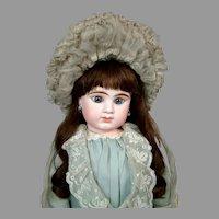 Superb French Silk Chapeau in Pale Blue c. 1885