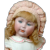 """Adorable & Super RARE  14"""" Simon & Halbig 1488 Closed-Mouth Character  in Pink and White"""