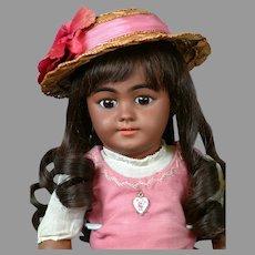"18"" Super Cute Black Simon & Halbig 1009 All Antique Doll-Superb!"