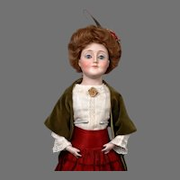 "19"" Iconic Kestner Gibson Girl in Antique Costume & Wig"