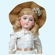 "Darling 25"" George Borgfeldt Doll in Antique White Dress"