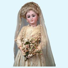 "26"" Simon & Halbig 1159 Bride Lady Doll All Antique"