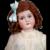 "Sweet 22.5"" C.M. Bergmann in Cute White Dress"