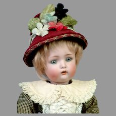 "13"" Simon & Halbig 1299 Character Child with Original Wig -- Those Dimples!"