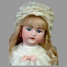 "Adorable 23.5"" Simon & Halbig 1079 in Sweet White Costume"
