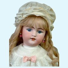 "Adorable 23.5"" Simon & Halbig 1079 in Sweet White Costume"