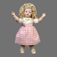 "Adorable 12"" Kestner ""Hilda"" in Sweet Pink Pinafore"