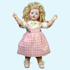"Adorable 12"" Kestner ""Hilda"" in Sweet Pink Pinafore"