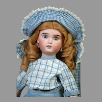 "Adorable 22"" Limoges Cherie Walks, Cries, Blows Kisses Antique French Doll"
