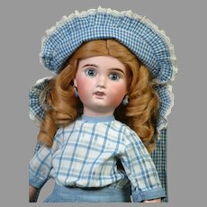 """Adorable 22"""" Limoges Cherie Walks, Cries, Blows Kisses Antique French Doll"""