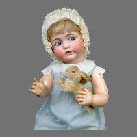 "Larger Than Life 30"" Kestner 257 Flirty Character Baby with Steiff Bunny"