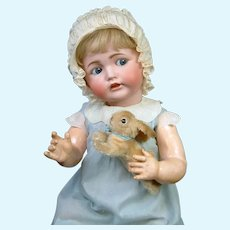 "Larger Than Life 30"" Kestner 257 Flirty Character Baby with Steiff Bunny"