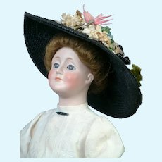 """Charming 19.5"""" Kestner Gibson Girl in Antique Costume"""