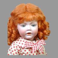 "Adorable 15"" Kestner 237 Hilda in Red and White Dress"