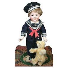 "Darling 16"" Kammer & Reinhardt/Simon & Halbig 116a Toddler with Vintage Steiff Bear"