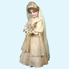 "Gorgeous 20"" Simon & Halbig 1159 All Antique Bride"