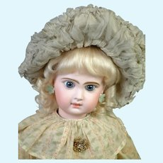 """Beautiful 22"""" Size 10 French Tete Jumeau Bebe All Antique Doll"""