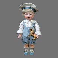 "Adorable 16""Kestner 211 ""Sammy"" Toddler with Tin Horse"
