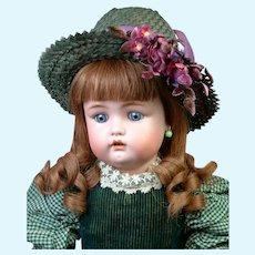 "Adorable 21.5"" Simon & Halbig 1299 in Green Dress"
