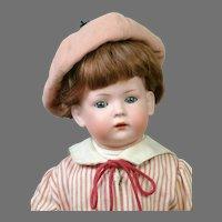 "Sweet Super Rare 15"" Bahr & Proschild / Bruno Schmidt 2072 Toddler with Wooden Elephant"
