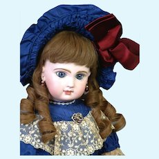 """Absolutely Stunning 20"""" All Original Closed-Mouth Tete Jumeau"""