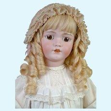 """Darling 33"""" Simon & Halbig 1249 """"Santa"""" in Lacy White Dress"""