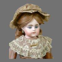 """Gorgeous 17"""" Simon & Halbig 940 Shoulder Head in Mauve Gown"""