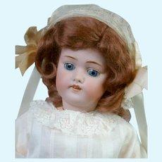 """Adorable 18"""" Kestner 168 in White Dress"""