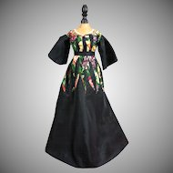 Stunning Vintage Couture Antique Fashion Doll Or China Lady Dress