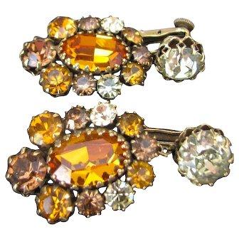 Vintage High End Rhinestone Earrings