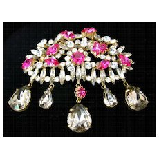 Spectacular Vintage French Couture Brooch