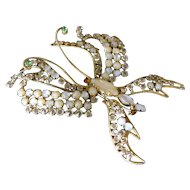 Especially Rare Vintage Schreiner Butterfly Brooch