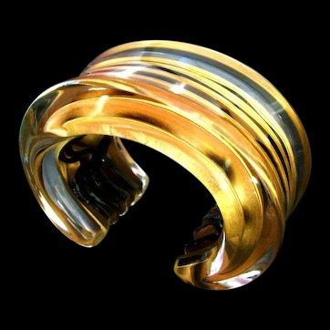 Massive Signed Vigneri  Cuff Bracelet