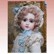 ~~~ Most Beautiful French White Work Organdy and Muslin Dress with Bonnet ~~~