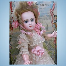 ~~~RESERVED for A . ~~~Very Pretty  French Bisque BeBe Reclame by Jumeau  ~~~