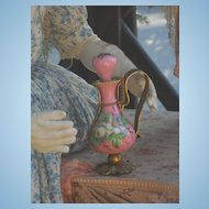 ~~~ Wonderful 19th. century Porcelain Parfum Holder for French Poupee ~~~
