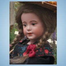 ~~~RESERVED..... Rare French Lady Character Doll by SFBJ with Original Costume ~~~