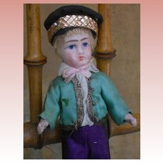 ~~~ Nice French Factory Original All Bisque Mignonette Boy ~~~