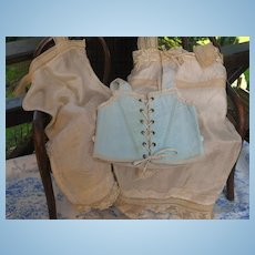 ~~~RESERVED for A.W. ~~~ Most Beautiful French BeBe Undergarment with Corset ~~~