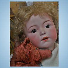 ~~~RESERVED  // Superb Large Size Germany Character Bisque Doll ~~~