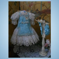 ~~~ Pretty French Bebe Costume with Bonnet ~~~