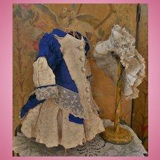 ~~~ Elegant French Bebe Costume with Bonnet ~~~