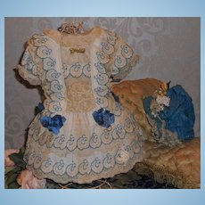 ~~~ Most Beautiful French Bebe Costume with Silk Bonnet ~~~