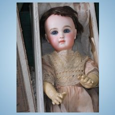 ~~~RESERVED //  France Attic Found Bebe Jumeau in Box ~~~