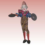 ~~~ Nice Papermache Cymbalier Musical Clown ~~~