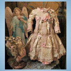 ~~~ Most Beautiful French Silk Costume with Bonnet ~~~