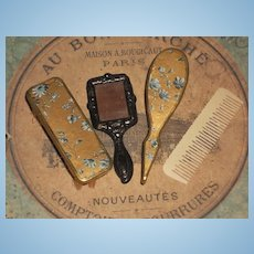 ~~~ French Poupee 4 Piece Toilette Accessory Garniture ~~~