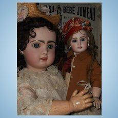 """~~~ Beautiful French Bisque Bebe """" Mlle. Jumeau """"  Size 8 ~~~"""