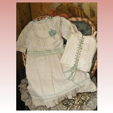 ~~~  Pretty Factory Chemise and Corset for Jumeau Bebe size 11 ~~~
