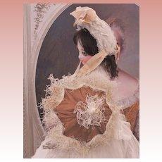 ~~~ Beautiful French Poupee Silk Parasol ~~~